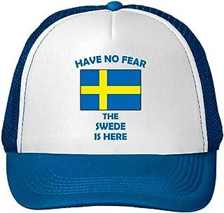 556428a80ba92 Have No Fear Swedish is Here Sweden Swedes Adjustable Trucker Hat Cap Royal  Blue