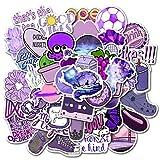 50 Unids Moda Cute Cartoon Purple Girl Sticker PVC Impermeable Etiqueta Decoración Coche Laptop Pad Teléfono Tronco Guitarra Bicicleta Motor