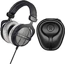 beyerdynamic DT-990 Pro Acoustically Open Headphones (250 Ohms) with Knox Gear Large Hard Shell Headphone Case Bundle (2 Items)