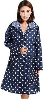 DRASAWEE(JP) レインウェア レインコート 雨具 フード付き ポケット付き ナイロン ロング丈 超薄 軽量 韓国風 ファッション 通勤 通学 全4色