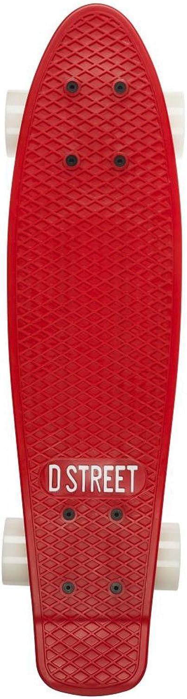D-Street D-Street D-Street Poly Prop rot-Weiß Skateboard 22-inch B00J4RG0M2  Hohe Qualität und geringer Aufwand 28c520