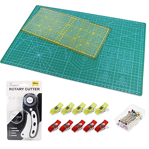 OLFA premium couette Makers Kit Découpe Mat Rotary Cutter /& patchwork Ruler