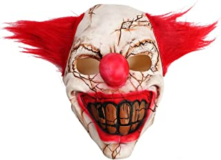 (Rotten Face Clown) - OWUDE Scary Clown Mask, Horror Creepy Latex Clown Masks for Adult Haunted House Dressing Halloween C...