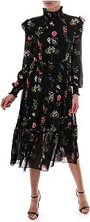 Black Simarra Florence Long Sleeve Midi Cocktail Dress