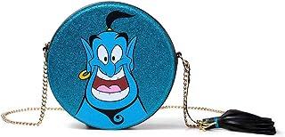 Disney Aladdin Glitter Genie Round Shaped Shoulder Bag With Chain Shoulder Strap Mochila escolar 21 centimeters Azul (Blue)