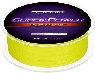 カストキング(KastKing)PEライン 釣り糸 Super Power ダイニーマX4 イエロー グリーン ホワイト マルチカラー [300m][500m][10lb 12lb 15lb 20lb 25lb 30lb 40lb 50lb]
