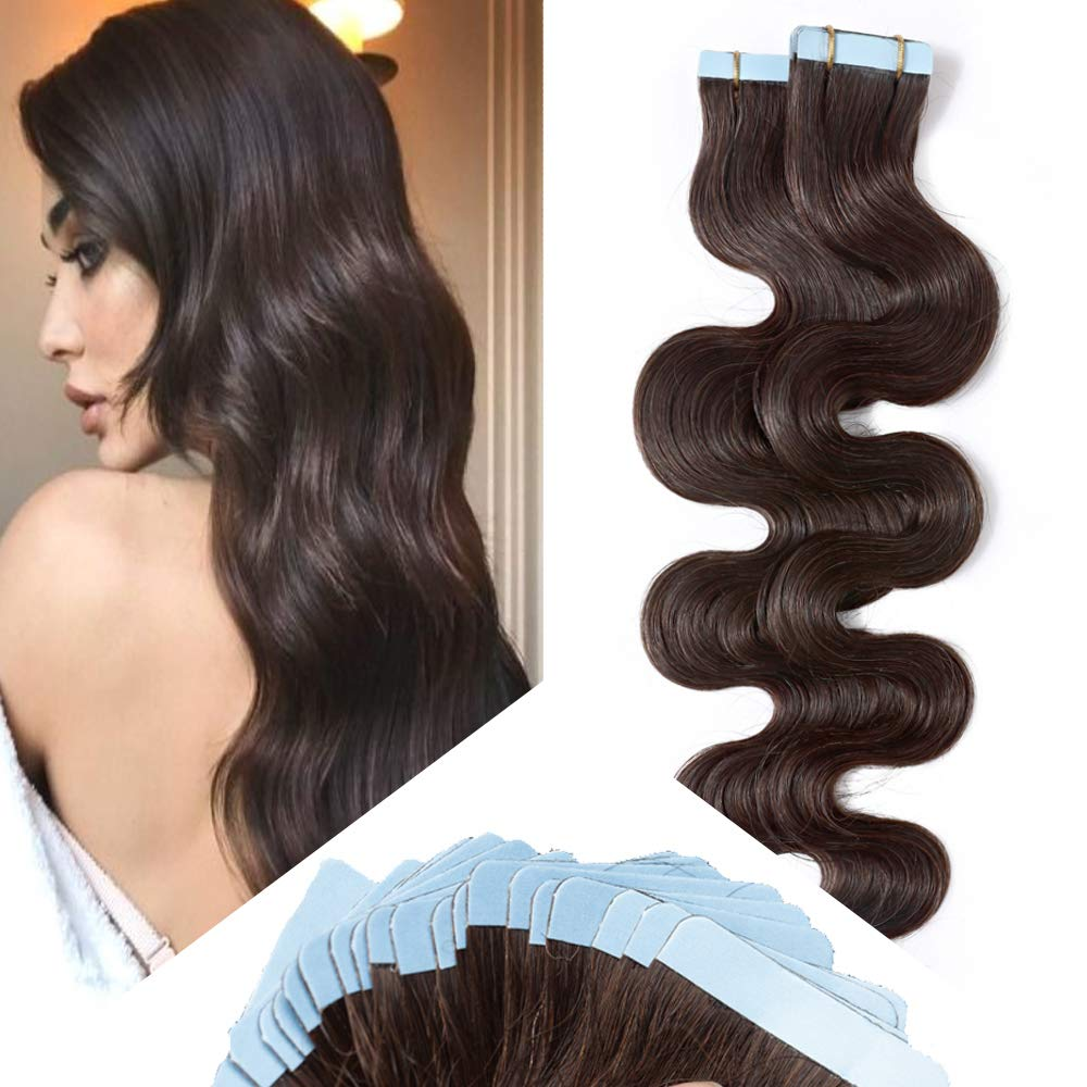 Hairro Wavy Tape in Hair Extensions Human Ranking Translated TOP19 Inch Long 22 Body