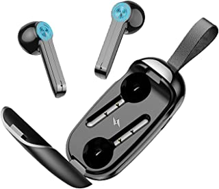 (2021 Nuevo modelo)Audifonos Bluetooth Inalambricos,Mini Auriculares inalámbricos con Bluetooth 5.0 Deportivos IPX6 Impermeable, Reduce el Ruido CVC8.0, Micrófonos dual incorporado, para correr, escuchar música, hablar por teléfono