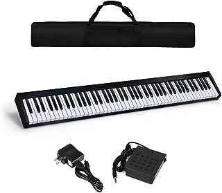 HOMGX 88-key Digital Piano, Portable Electric Keyboard w/Dyn