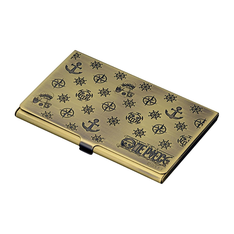 バンガロー月曜日斧名刺入れ メンズ カードケース ワンピース 電伝虫 メタルカードケース ブラス 敬老の日
