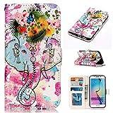 XINYIYI Estuche para Samsung Galaxy S6 Edge Bookstyle Estuche Pintado Pintado PU Funda de Cuero Flip...