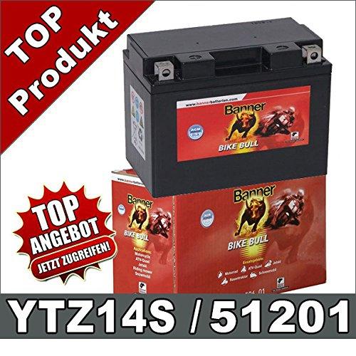 Blei GEL Motorrad Batterie 11Ah 12V YTZ14-S, GTZ14-4 GTZ14S 51101 51201 Banner