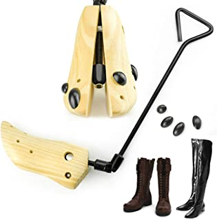 Eskyshop One Way Unisex Professional Wooden Shoes Stretcher for Boots with Adjustable Width (One Pair Medium 7-9)