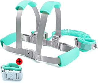 Toddler Leash- Baby Harness and Reins Anti Lost Wrist Link, Child Leash with Breathable Wristbands and Cushion(4.9ft/8.2ft) Toddler Harness Safety Leashes