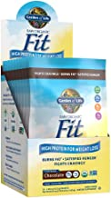 Garden of Life Meal Replacement - Raw Organic Fit Powder, Chocolate - High Protein for Weight Loss (28g) Plus Fiber & Probiotics, Organic & Non-GMO Vegan Nutritional Shake, Packets (10 Count Tray)