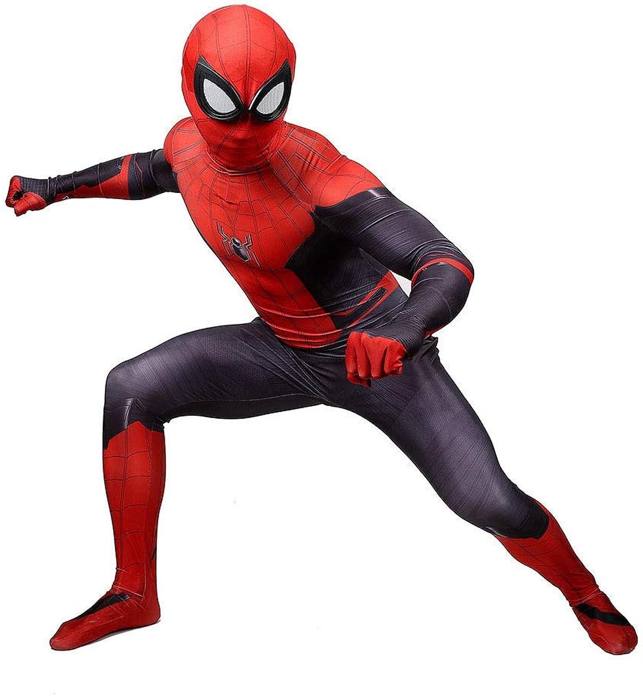 LCRBT Kinder Junge Erwachsene Spiderman Cosplay Kostüm Kind Superheld SpiderMan Halloween Party Weihnachten Outfit,AdultXL