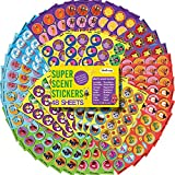 HORIECHALY Scratch and Sniff Stickers, 48 Sheets with 16 Scents, Smelly Stickers for Kids & Teachers, Variety Packs Super Scented Reward Stickers, Birthday Gift, Party Favors.