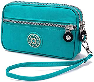 Women's Canvas Smartphone Organizer Holder Wristlets Bag Clutch Wallets Purse with Removable Wrist Strap Handbag