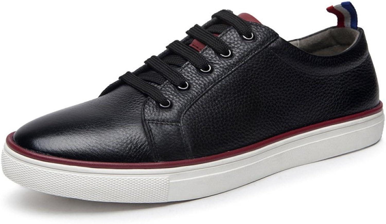 GTYMFH Leather White shoes Men Lace Casual shoes Korean Version Breathable Men's shoes shoes