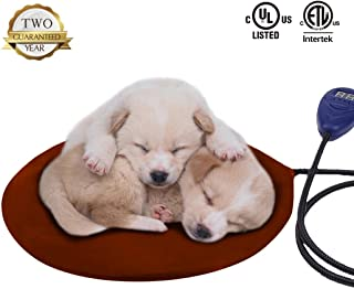 Warmstore Pet Heating Pad Heated Dog Beds Warmer - Cat Electric Heat Pad, Waterproof Adjustable Warming Mat Chew Resistant Steel Cord, Soft Removable Cover