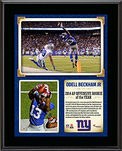 """Odell Beckham Jr. New York Giants 10.5"""" x 13"""" NFL Honors 2014 Offensive Rookie of the Year Sublimated Plaque - NFL Player Plaques and Collages"""