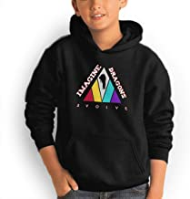 Youth Hoodie Imagine Dragons 100% Cotton Casual Long Sleeve Sweatshirt Pullover with Pockets for Boys and Girls