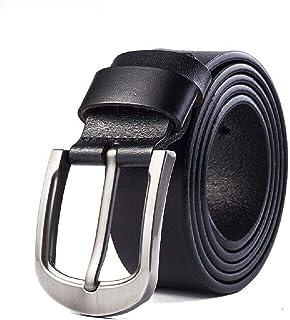 أحزمة جلد طبيعي للرجال حزام مُحبب بالكامل مع جينز كلاسيكي بأبزيم مدبب ملابس عمل رسمية