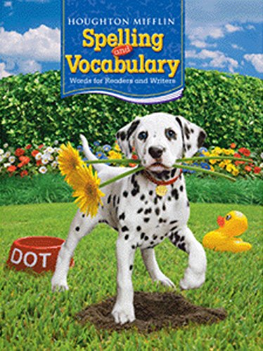 Houghton Mifflin Spelling And Vocabulary Student Edition Non Consumable Ball And Stick Grade 2 2006