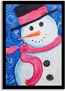 snowman pallet painting