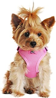 DOGGIE DESIGN Soft Lighweight Wrap and Snap Choke Free Dog Harness - Candy Pink (S)