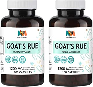 Goat's Rue Capsules, 1200 MG per Serving, Organic Goat's Rue Herb (Galega officinalis) (2x100 Capsules)