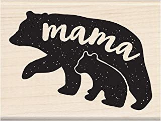 Inkadinkado Mama Bear and Baby Bear Wood Mounted Rubber Stamp for Mother's Day Cards and Scrapbooking, 1pc, 3.02''L x 2.23''W