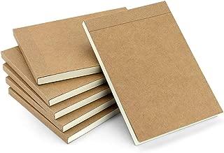 VEESUN Bloc de Dibujo A6, 6pcs Libreta Pequeña Diarios Cuaderno de Notas en Blanco para Escolar Escribir Professor Viajes o Como un Diario, 14.5 x 10.5cm