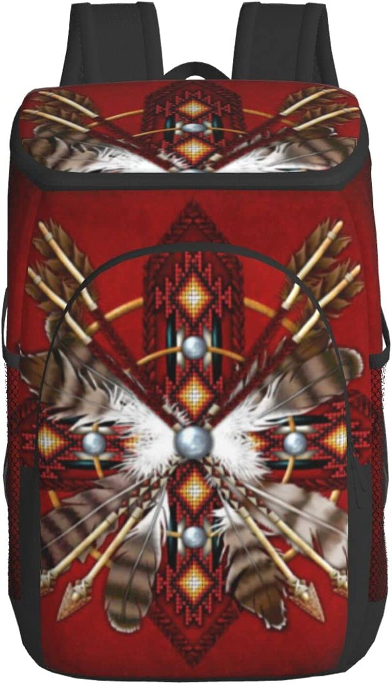 Native American Bead Cross Ethnic Lunch Picnic Bag New life Department store Convenien For