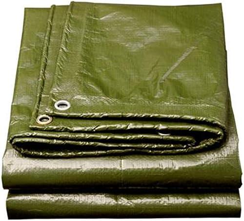 MuMa Bache PE Vert épaissir Couverture Pluie Crème Solaire Imperméable Canopée Toile Un Camion (Couleur   vert, Taille   5  7m)