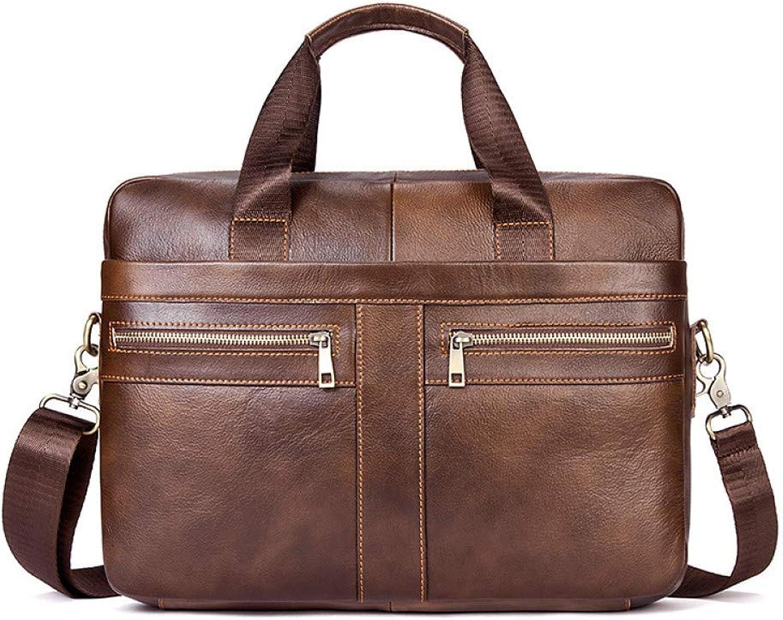 LMSHM Aktentasche Für Männer Business Echtes Leder Herren Tasche Große Große Große Kapazität Männliche Handtasche Schultertasche B07Q1X5YHK 666f27