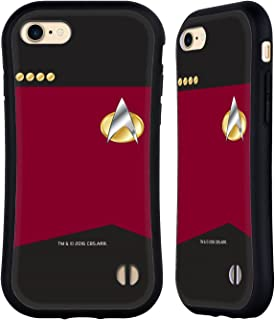 Official Star Trek Captain Uniforms and Badges TNG Hybrid Case Compatible for iPhone 7 / iPhone 8