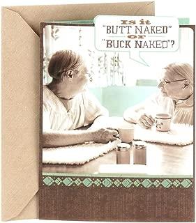 Hallmark Shoebox Funny Birthday Card for Friend, Thank You Card, Friendship Card (Buck Naked)