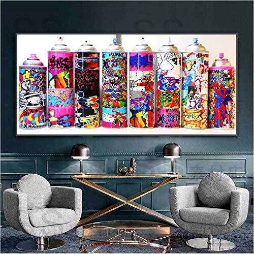 Verffles, bloempot, kleurenbeeld, modern, canvas, schilderen, kunst, voor woonkamer, slaapkamer, nachtkastje, studio, 60 x 130 cm x 1 zonder lijst