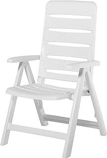 Kettler Nizza Resin Folding Chair White (Matte Finish) (Renewed)