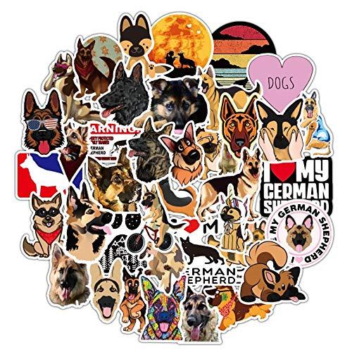 New Animal Dog German Shepherd Sticker Waterproof PVC Skateboard Laptop Graffiti Bottle Cool Vsco Stickers Kid Toy 50 Pcs