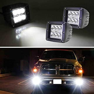 iJDMTOY (2) 2x3 3-Inch 24W High Power CREE LED Cubic Pod Lights Compatible With Truck Jeep Off-Road ATV 4WD 4x4, Spot Beam, Xenon White