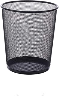 C-J-Xin Black Trash Can, Home Dorm Room Trash Can Hollow Out Trash Can Store Supermarket Hotel Trash Can High Capacity (Co...