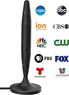 Digital TV Antenna for Indoor - HDTV Antenna with Amplifier Signal Booster for 4K HD Local Channels with Coaxial Cable Ultra High Definition TVs,Amplified 120 Mile Range Ultra 4K TV Antenna