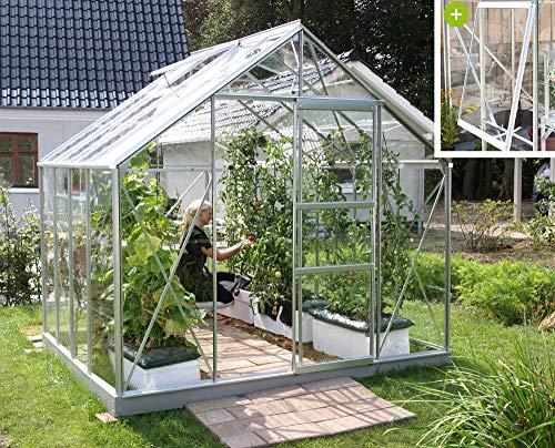 Vitavia Meridian 1 6700 ESG 3 mm Gewächshaus 2 Dachfenster 1 Seitenfenster Hobbygärtner
