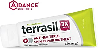 Antibacterial Skin Repair 3X Faster Dr. Recommended 100% Guaranteed All Natural Ointment Fissures Folliculitis Angular Cheilitis Impetigo Chilblains Lichen Sclerosus Boils Cellulitis by Terrasil®