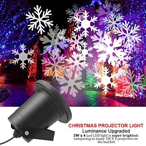 CYCMIA Wasserdichte außen LED Weihnachtsbeleuchtung, 20m x 20m breite Lichtabdeckung, keine störenden Kabel oder Glühbirnen (Snowflake light)