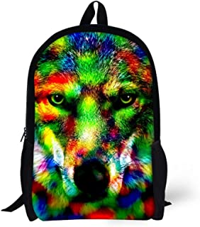 Kids Backpacks For School Cool Colorful Animal Trendy Personalized Bags- C0016C