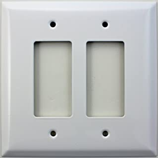 Over Sized Jumbo Smooth White 2 Gang GFI/Rocker Switch Plate