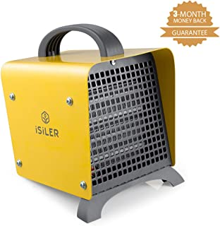 ISILER Space Heater, 1500W Portable Indoor Heater, Ceramic Space Heater with Adjustable..